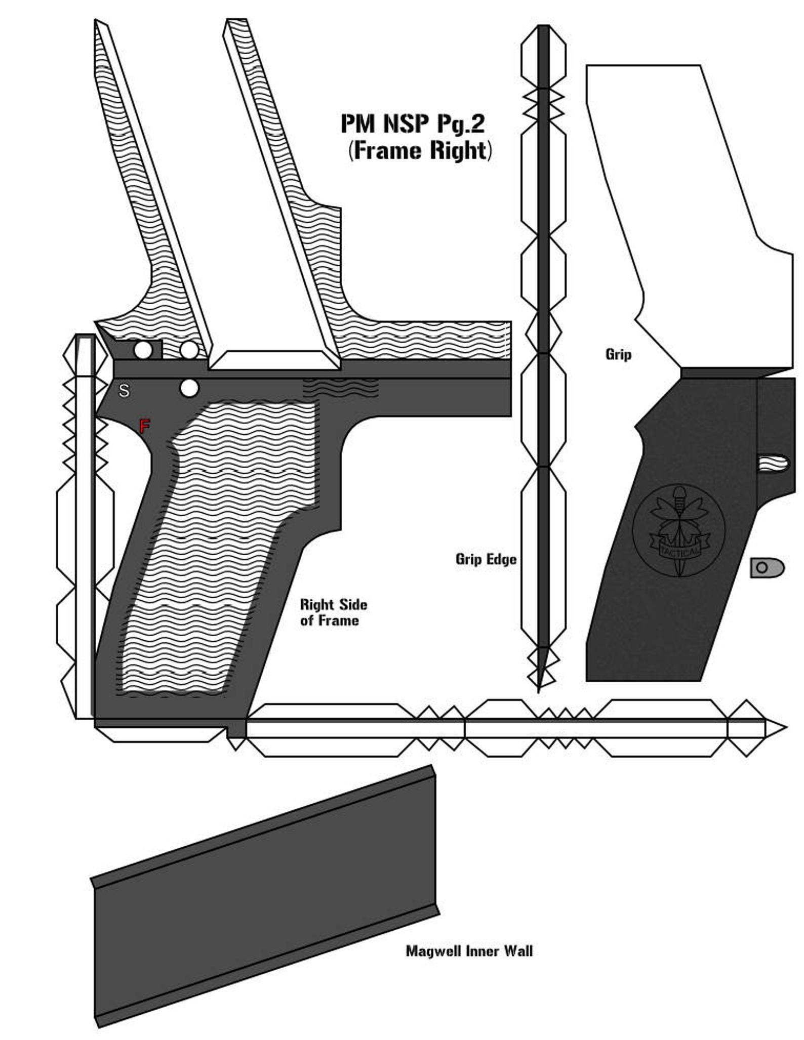 Gun Papercraft Guns 3d Paper Craft Model Kits