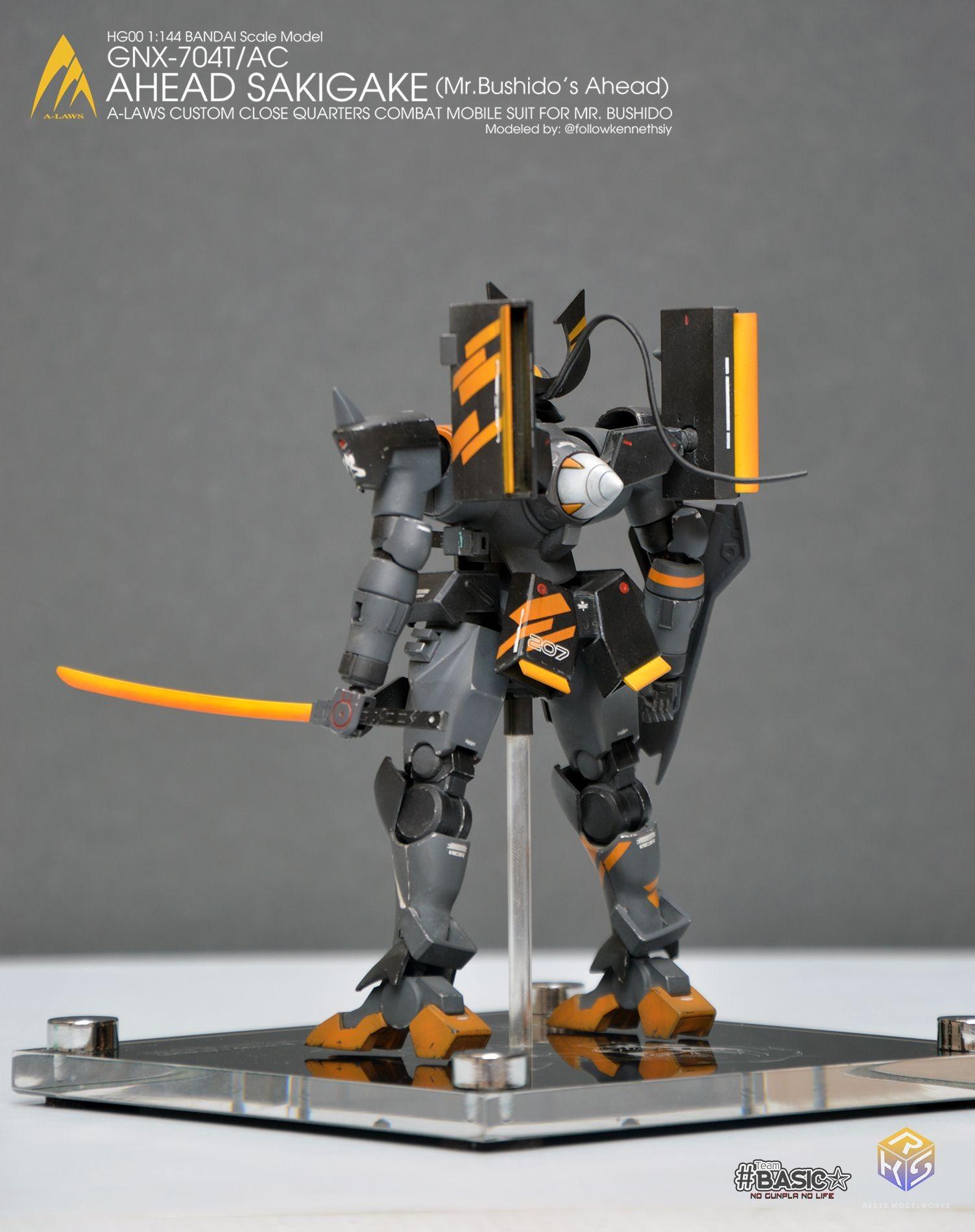 Gundam 00 Papercraft High Grade Gnx 704t Ac Mr Bushido S Ahead Ver Rks