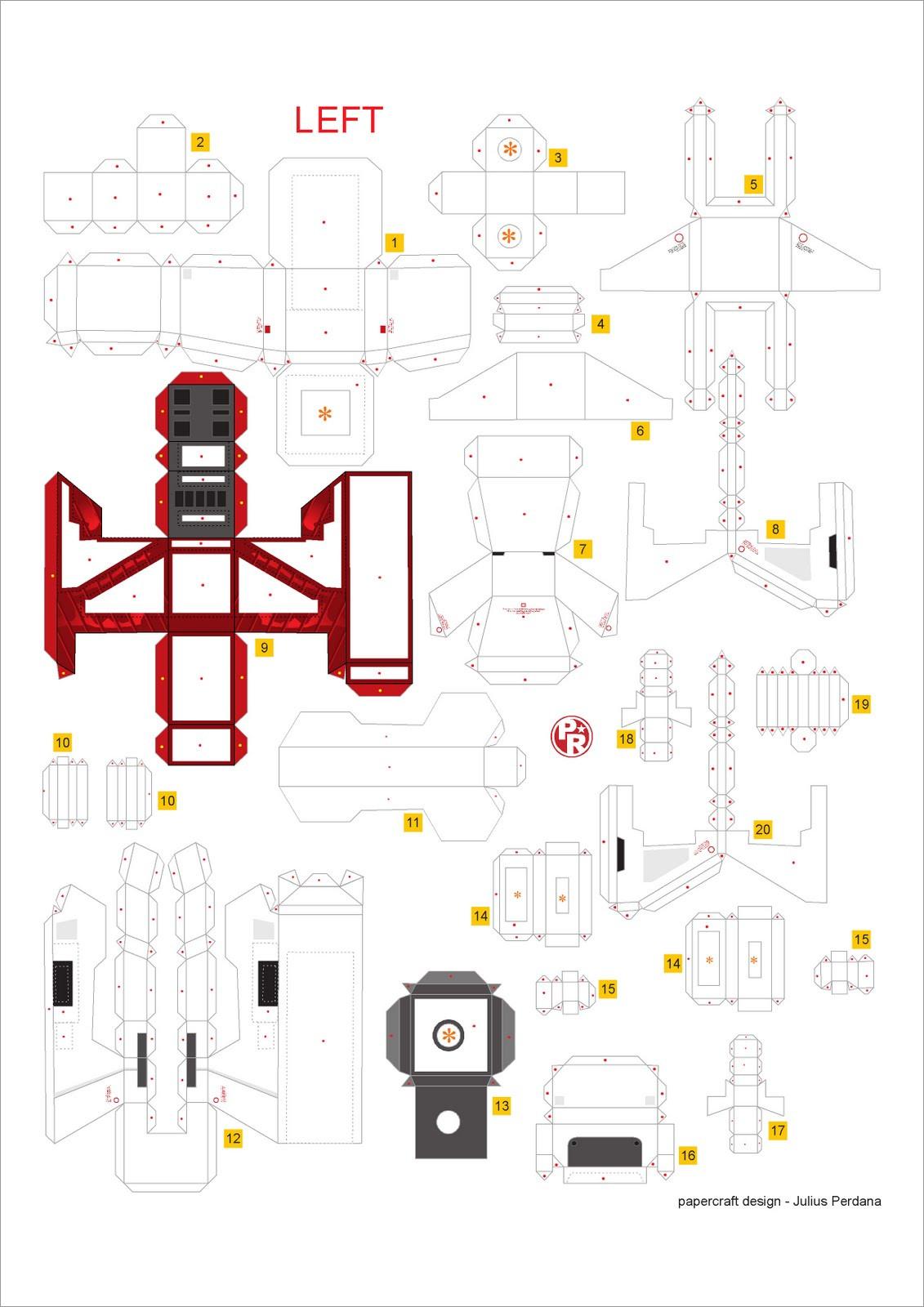 Gundam Papercraft Gundam Papercraft Template