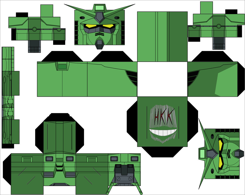 Gundam Papercraft Rx-78-z1 Zeon's Gundam Papercraft Download Free