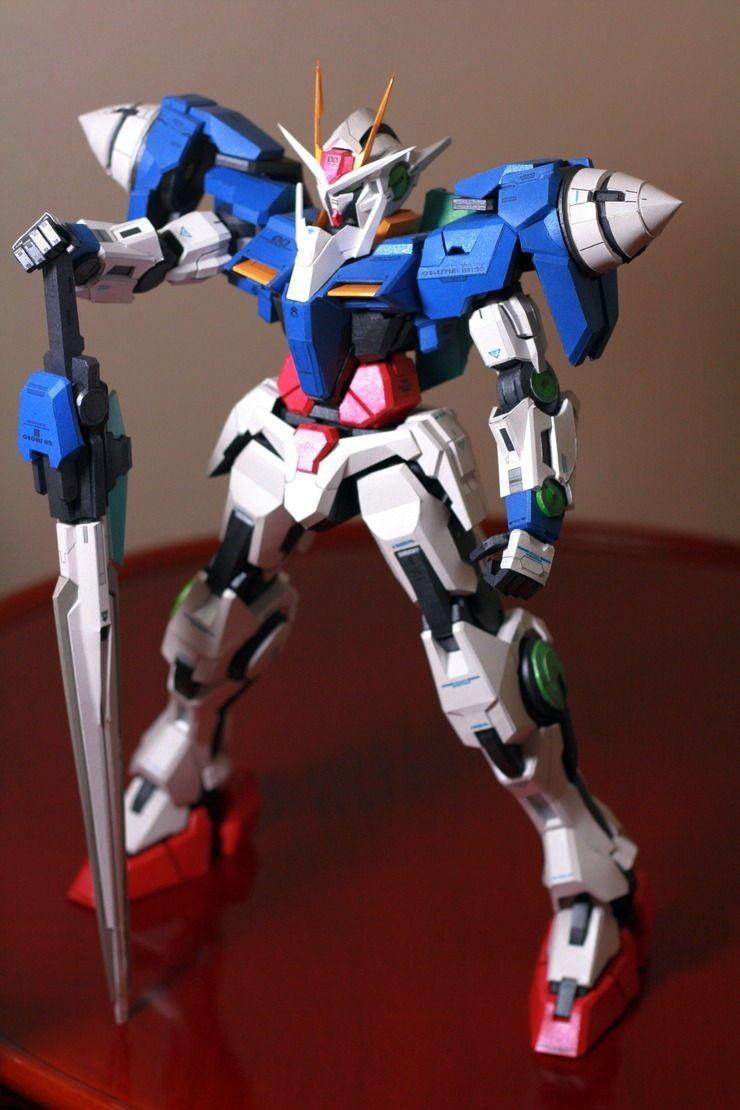 Gundam Wing Zero Papercraft Gn 0000 00 Raiser Gundam Papercraft by Nausica774