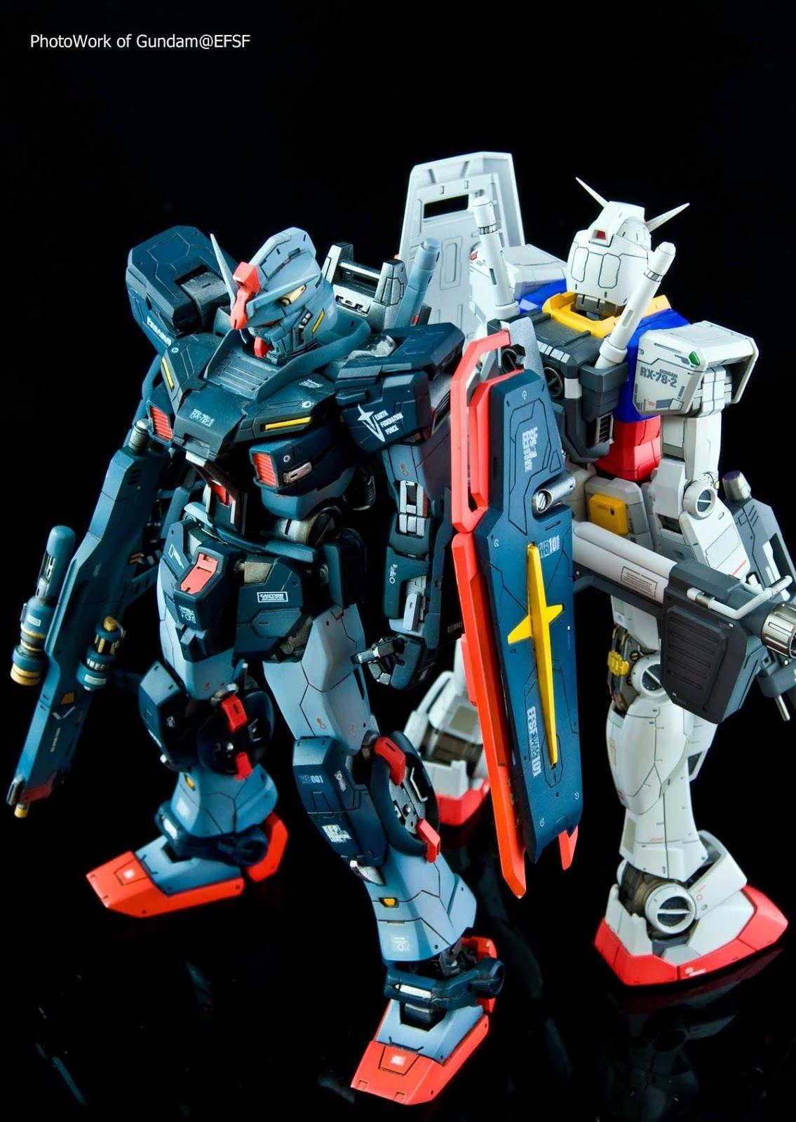 Gurren Lagann Papercraft 1 100 Rx 78 2 Gundam Parison by Gundam Efsf Via