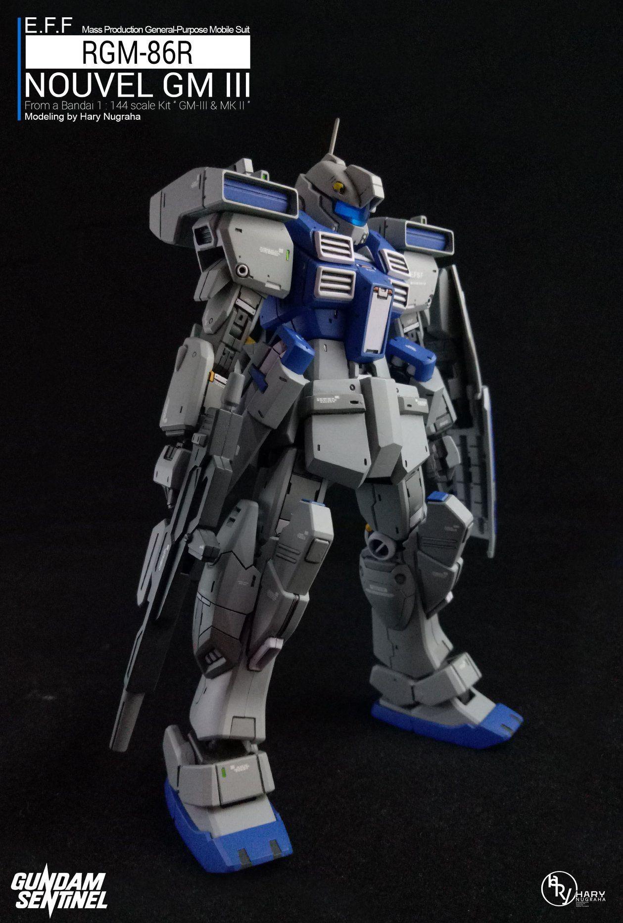 Gurren Lagann Papercraft Rgm 86r Nouvel Gm Iii F Gundam Pinterest