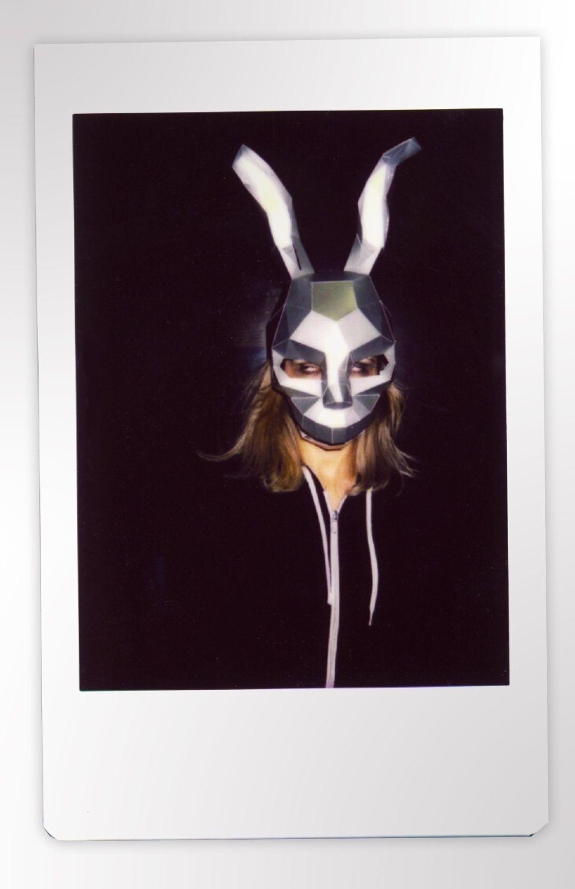 Halloween Papercraft Frank Rabbit Mask Donnie Darko Mask Hare Mask Diy 3dmask Pdf Paper