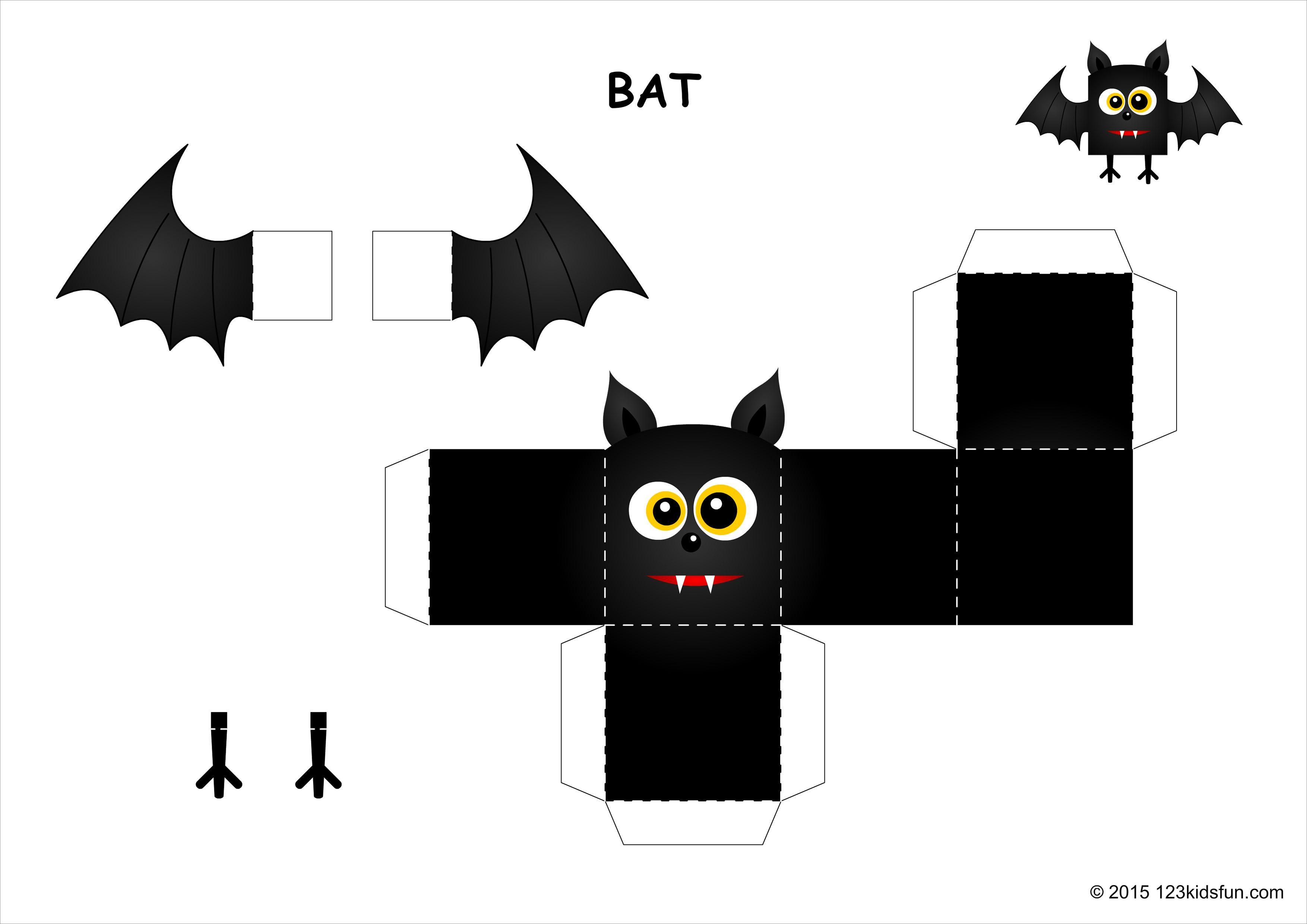 Halloween Papercraft Halloween Bat Papercraft