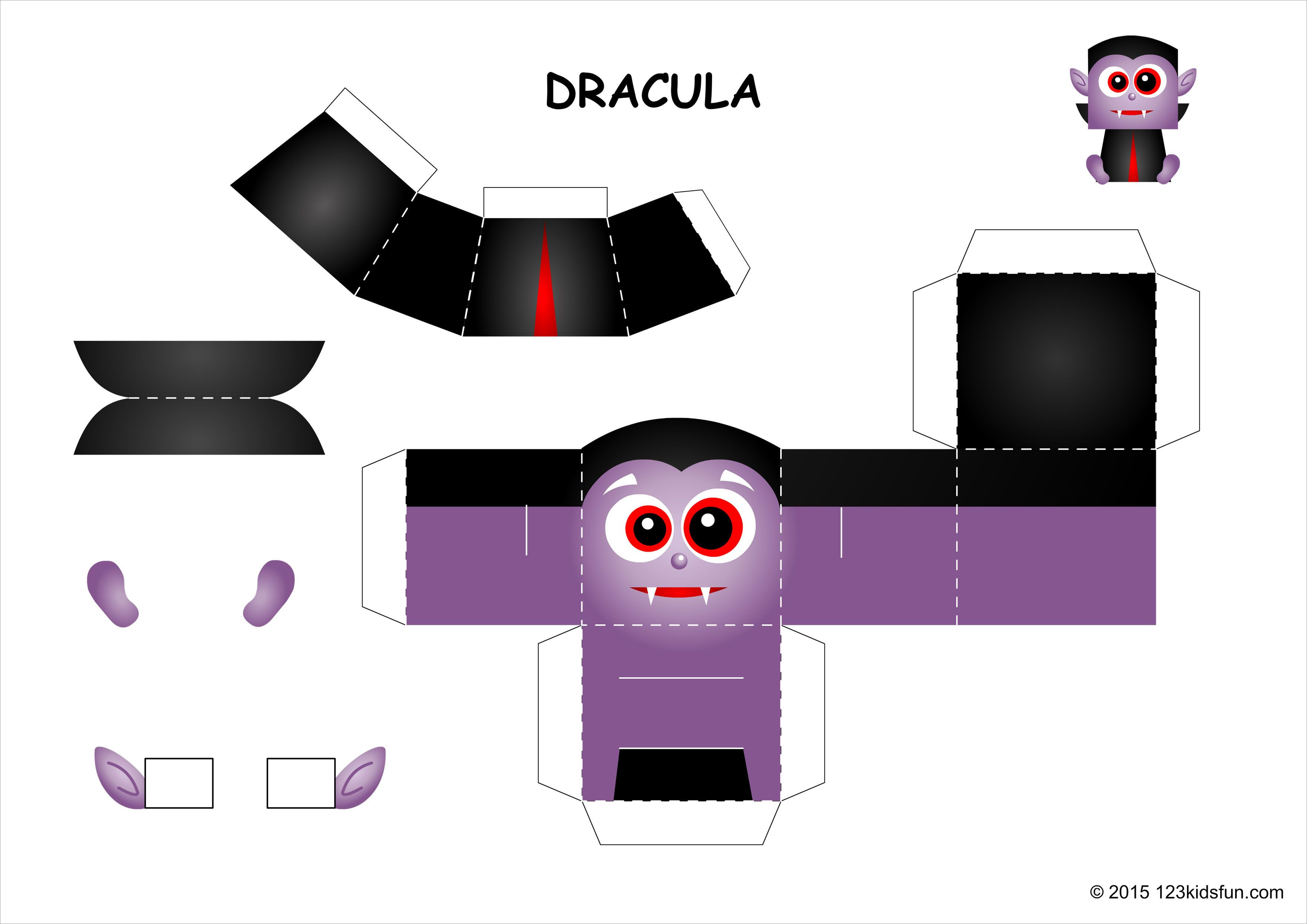 Halloween Papercraft Halloween Dracula Papercraft