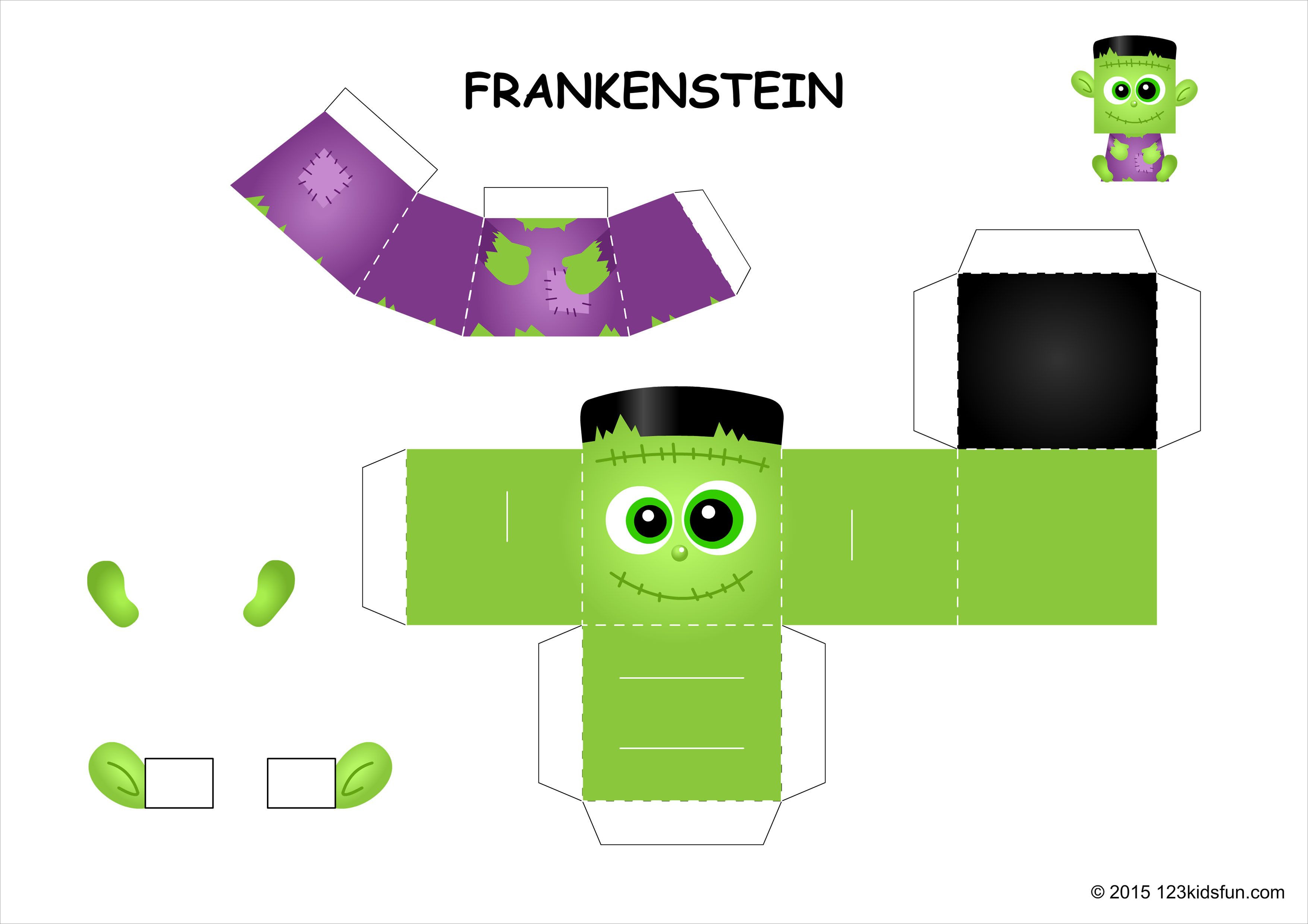 Halloween Papercraft Halloween Frankenstein Papercraft