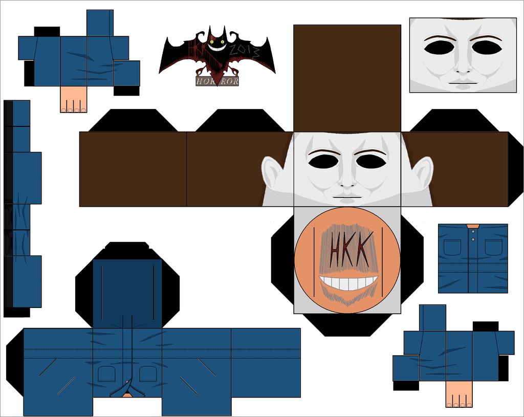 Halloween Papercraft Michael Myers Halloween Papercraft