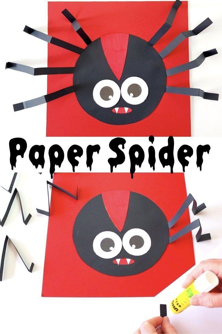 Halloween Papercraft Paper Spider Kids Craft Shortcuts Pinterest