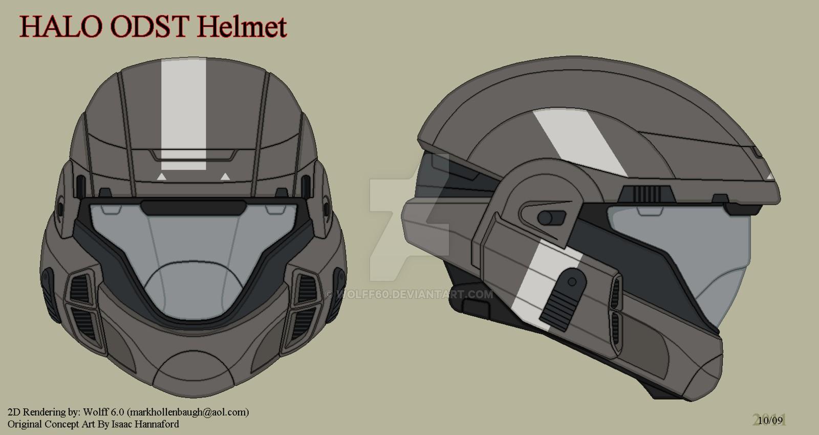 Halo Helmet Papercraft Halo Odst Helmet by Wolff60viantart On Deviantart