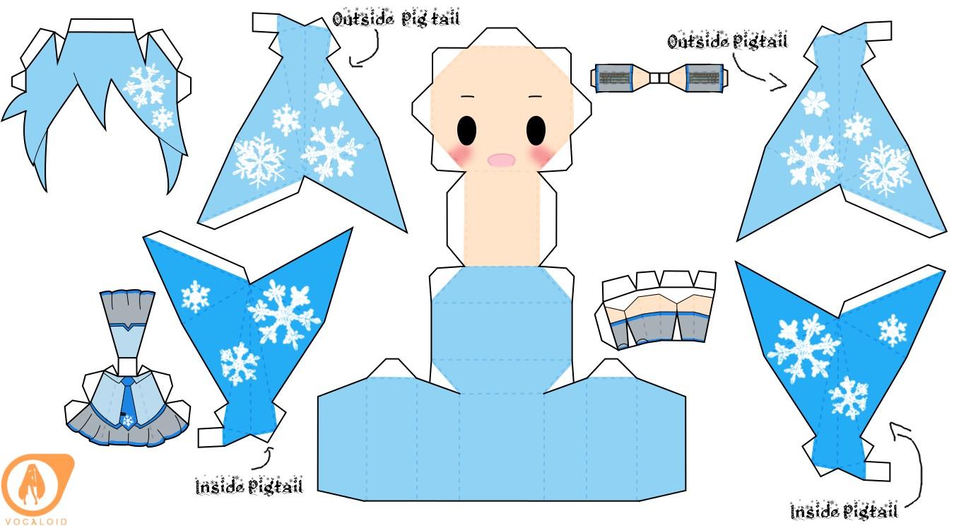 Hatsune Miku Papercraft 2010 Snow Miku Hatsune by Dallaspierce D5nc1y7 1374—744