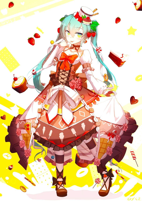 Hatsune Miku Papercraft Sweet Miku Vocaloid Pinterest
