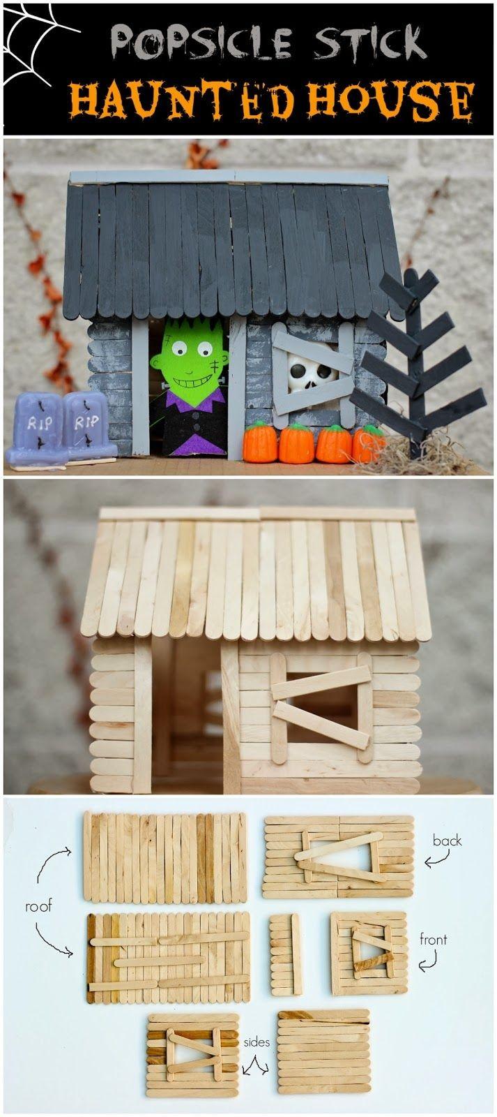 Haunted Mansion Papercraft Last Minute Halloween Ideas Halloween Pinterest