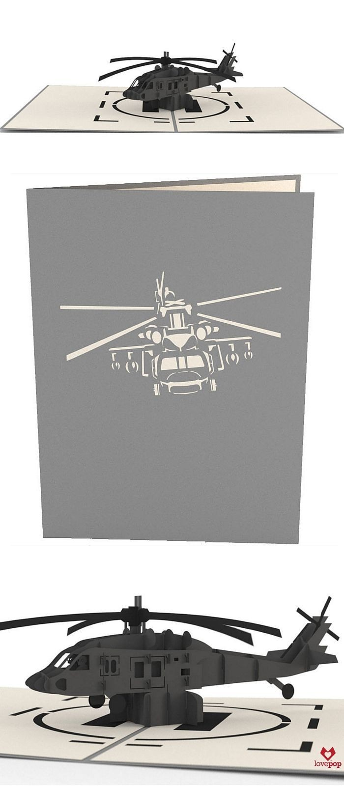 Helicopter Papercraft Blackhawk Helicopter Gifties Pinterest