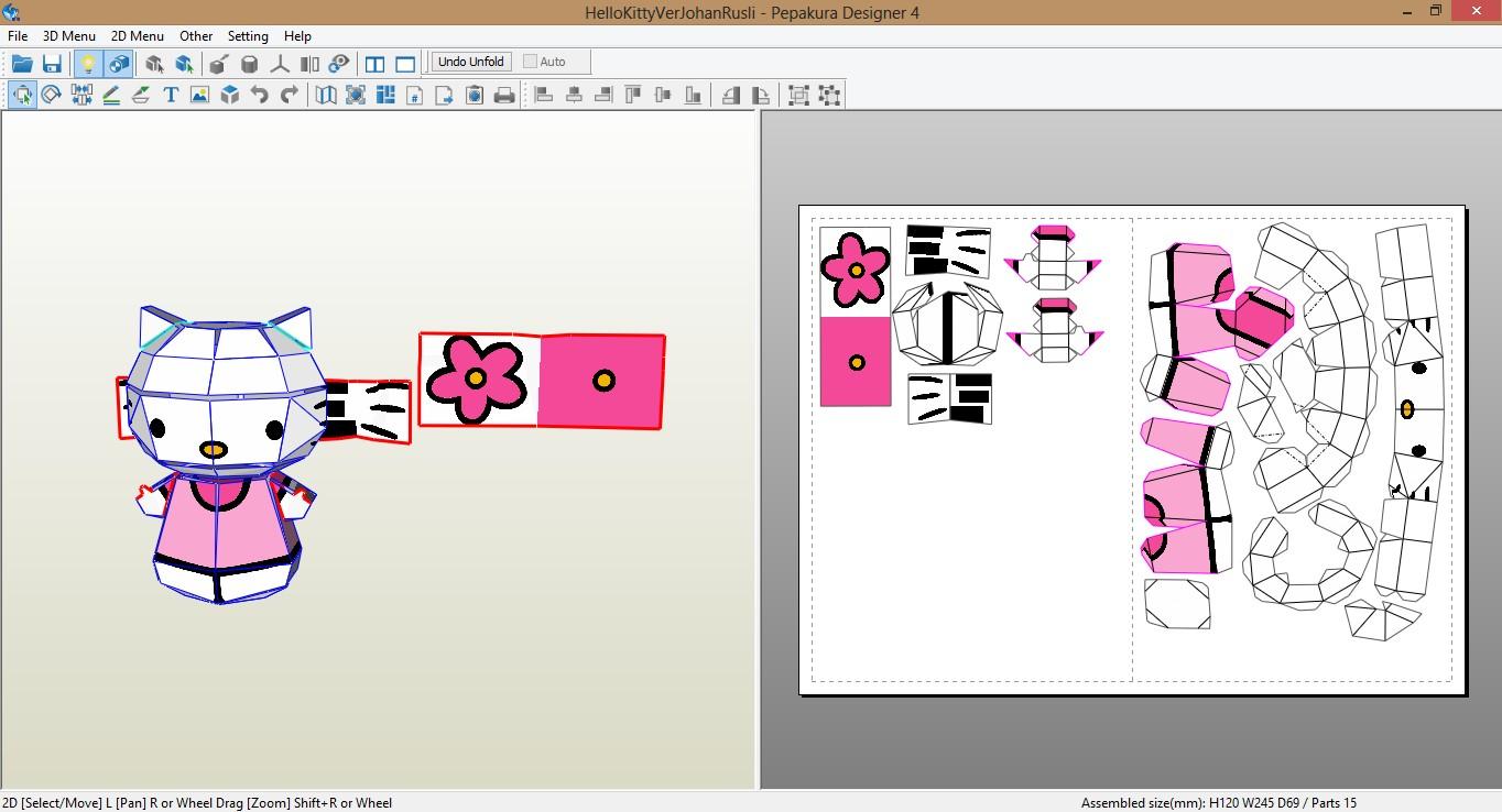Hello Kitty Papercraft Kitty Papercraft