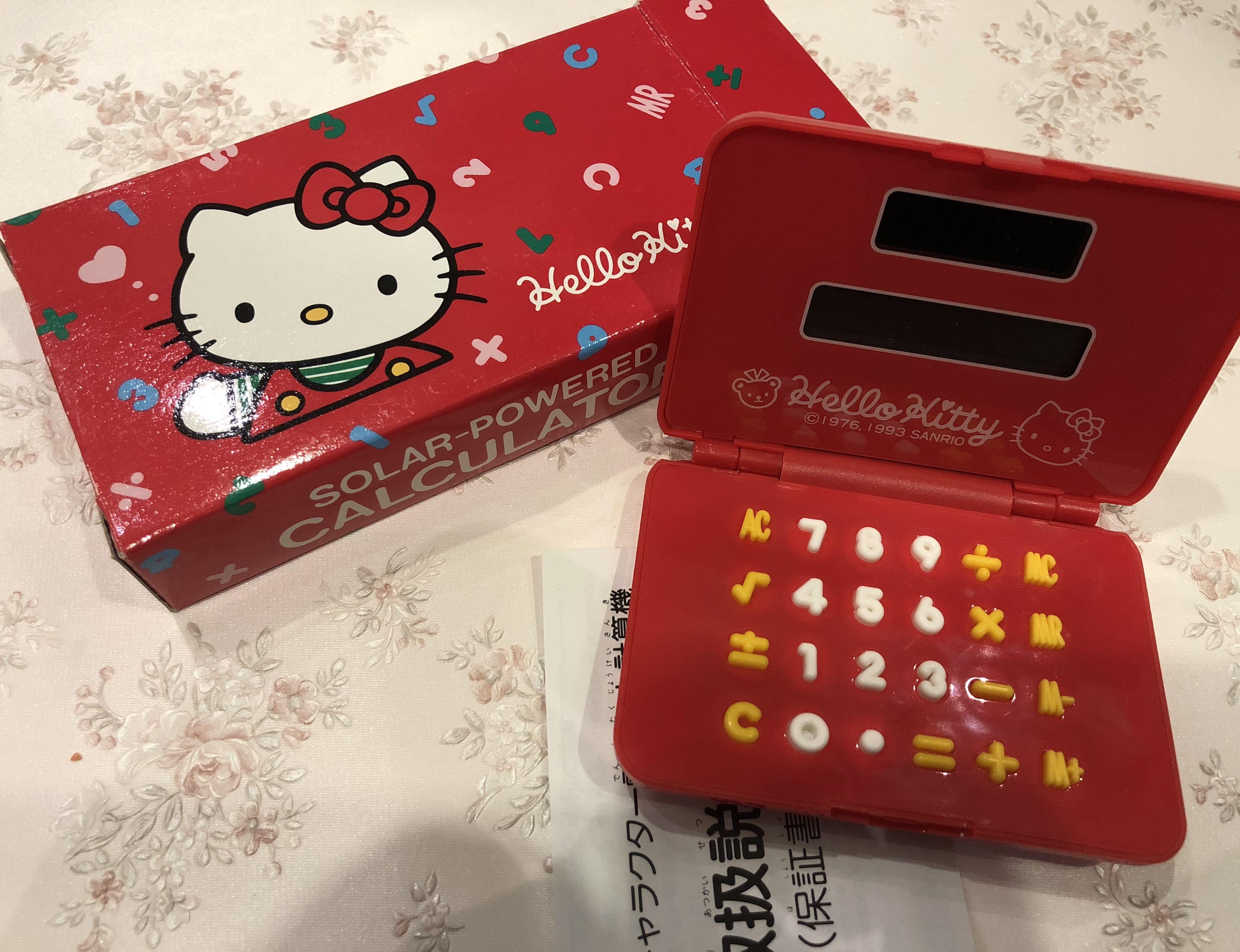 Hello Kitty Papercraft Vintage Hello Kitty Calculator Sanrio