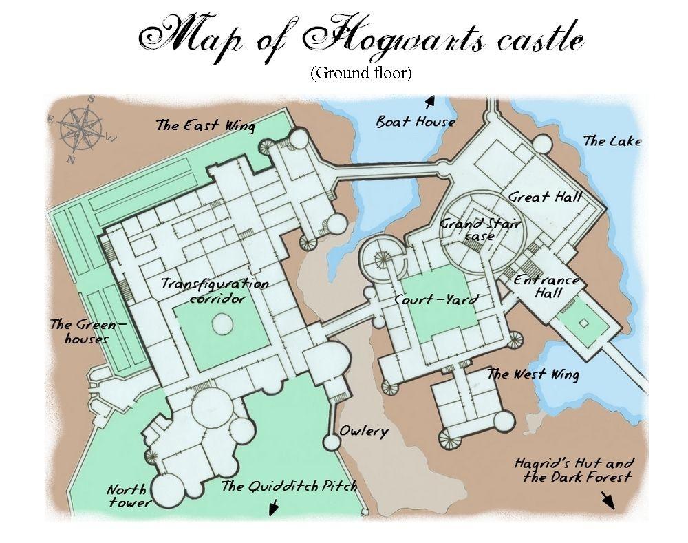 Hogwarts Papercraft Harry Potter Hogwarts Castle Map