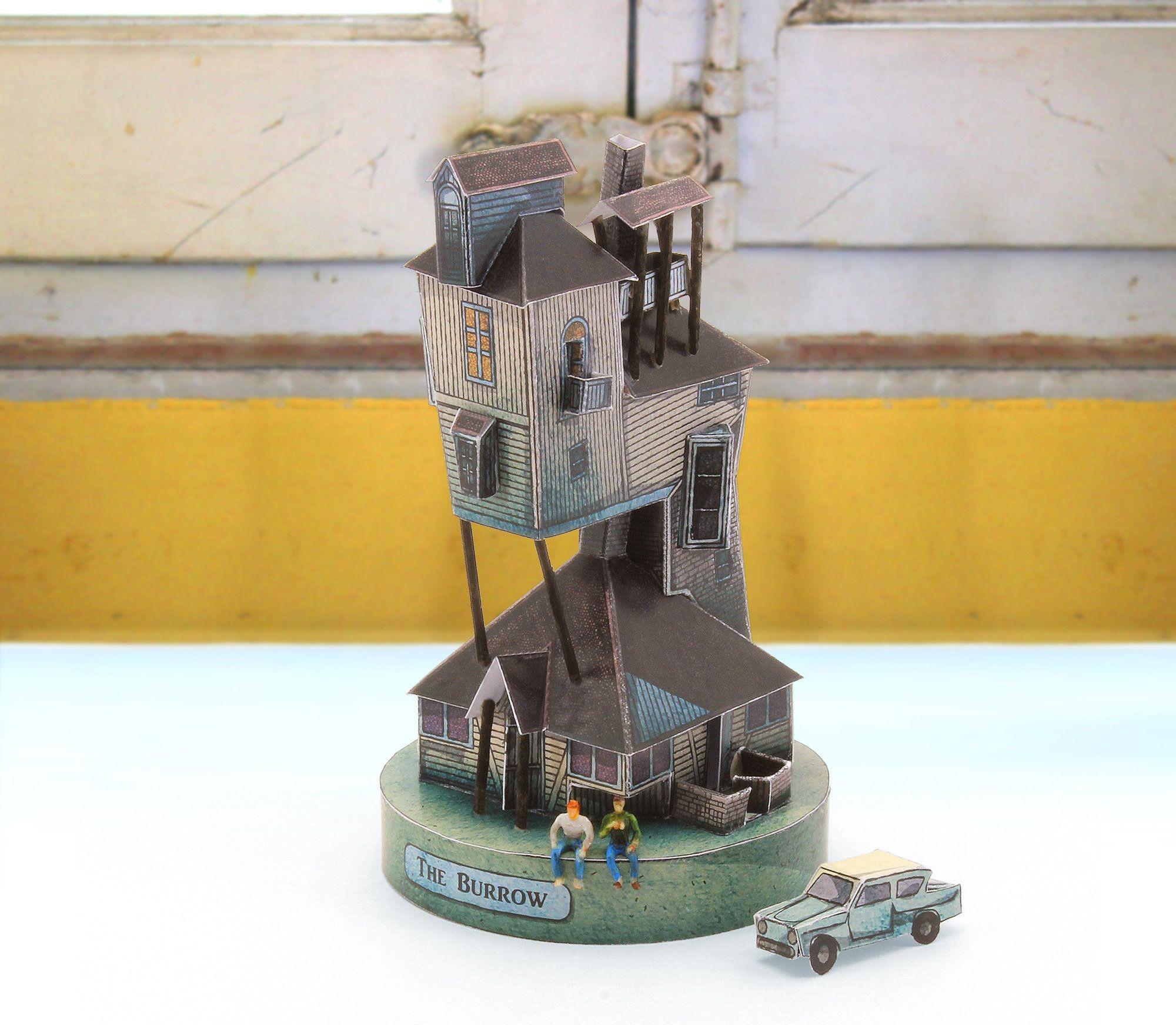 Hogwarts Papercraft the Burrow Papercraft Cut & assemble Paper Model Kit