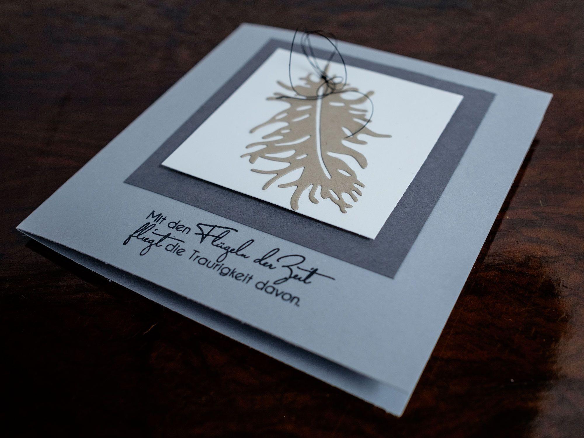 Hollos Papercraft Trauerkarte Trauerkarten Pinterest