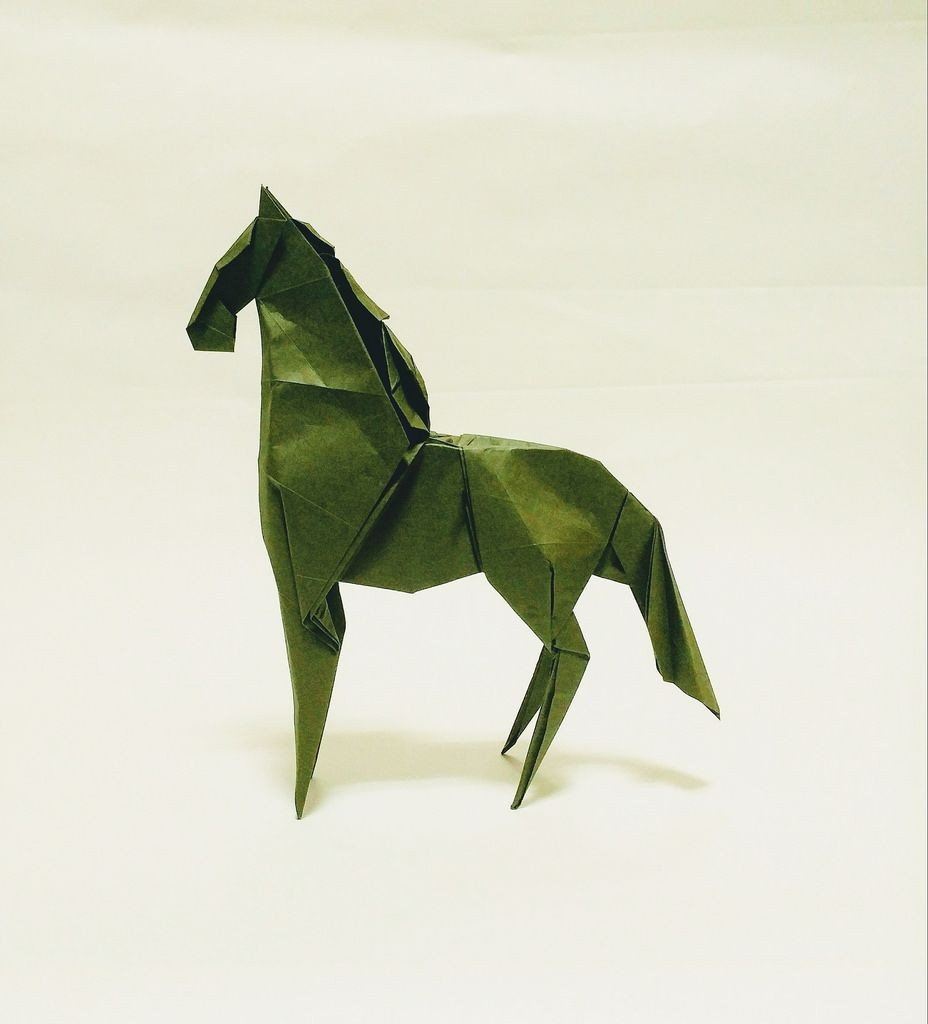 Horse Papercraft Horse Designed by Me by Jeong Jaeil origami Pinterest