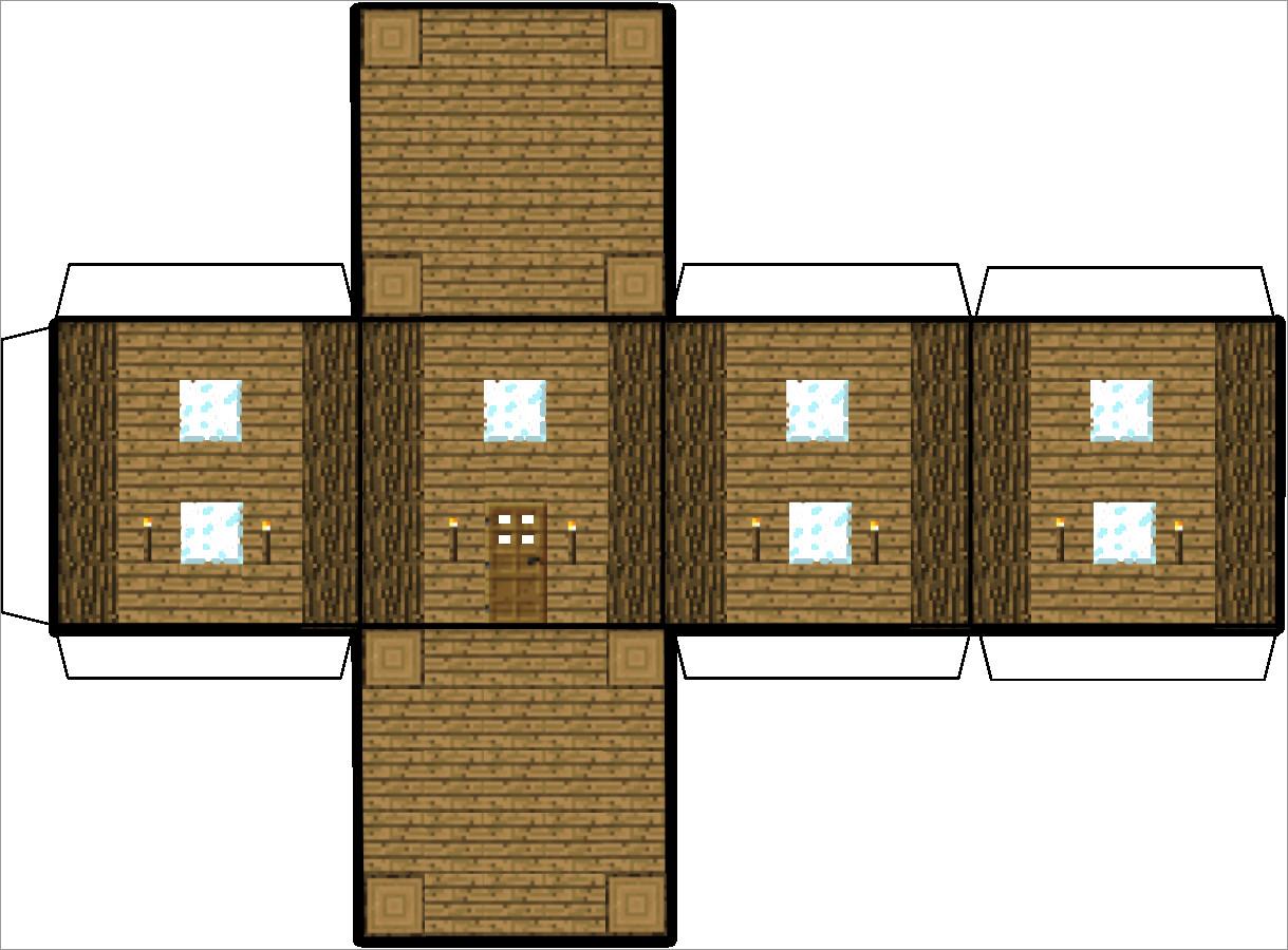 House Papercraft Minecraft House Papercraft