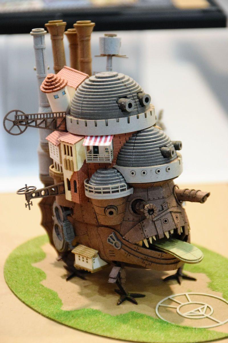 Howls Moving Castle Papercraft КРассная Японская анимация Хаяо Миядзаки ходячий Замок ХауРа Limited