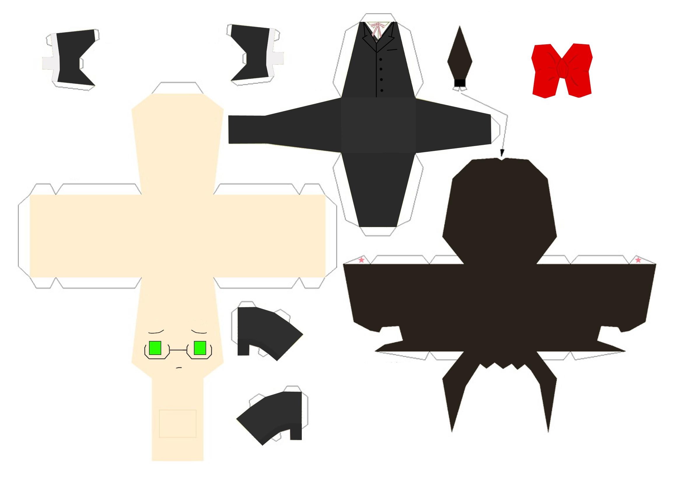 Human Papercraft Grell Human Kuroshitsuji Papercraft Templates