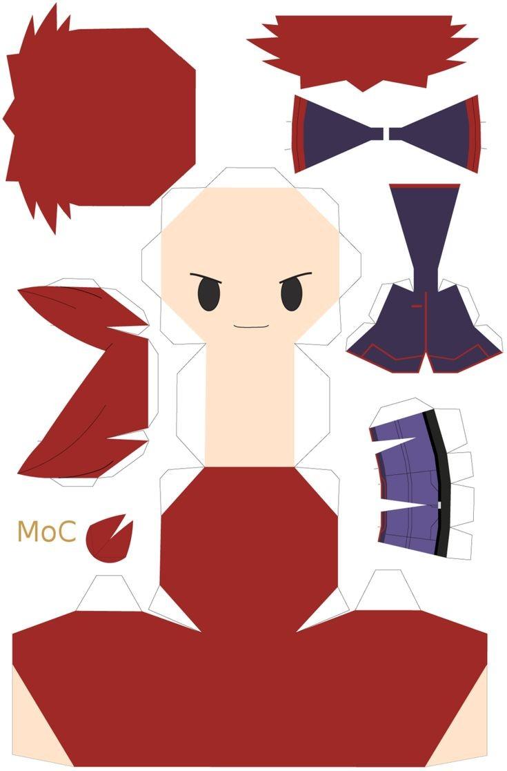 Ichigo Papercraft Chibi Naruto by Inunokanojodeviantart Paper T
