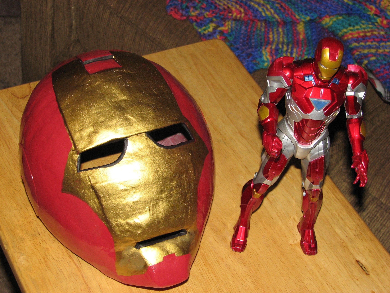 Iron Man Mask Papercraft Paper Mache Iron Man Mask