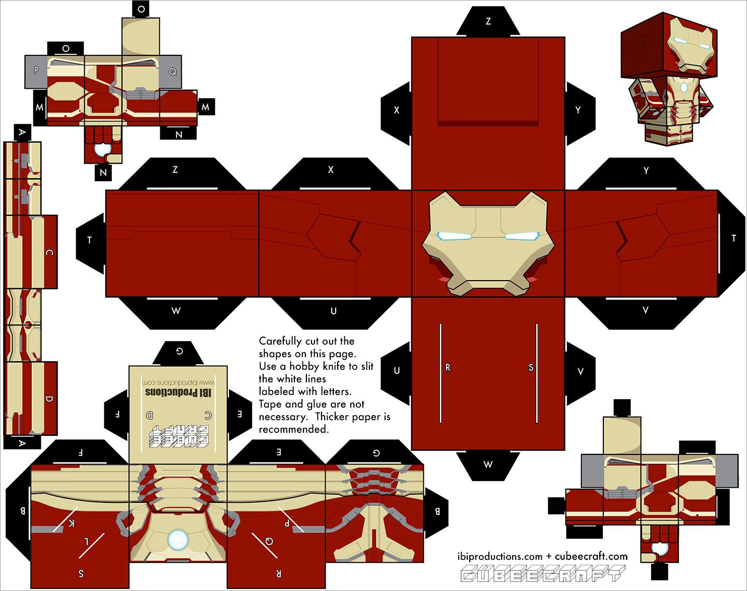 Ironman Papercraft Iron Man Mark 42 Papercraft