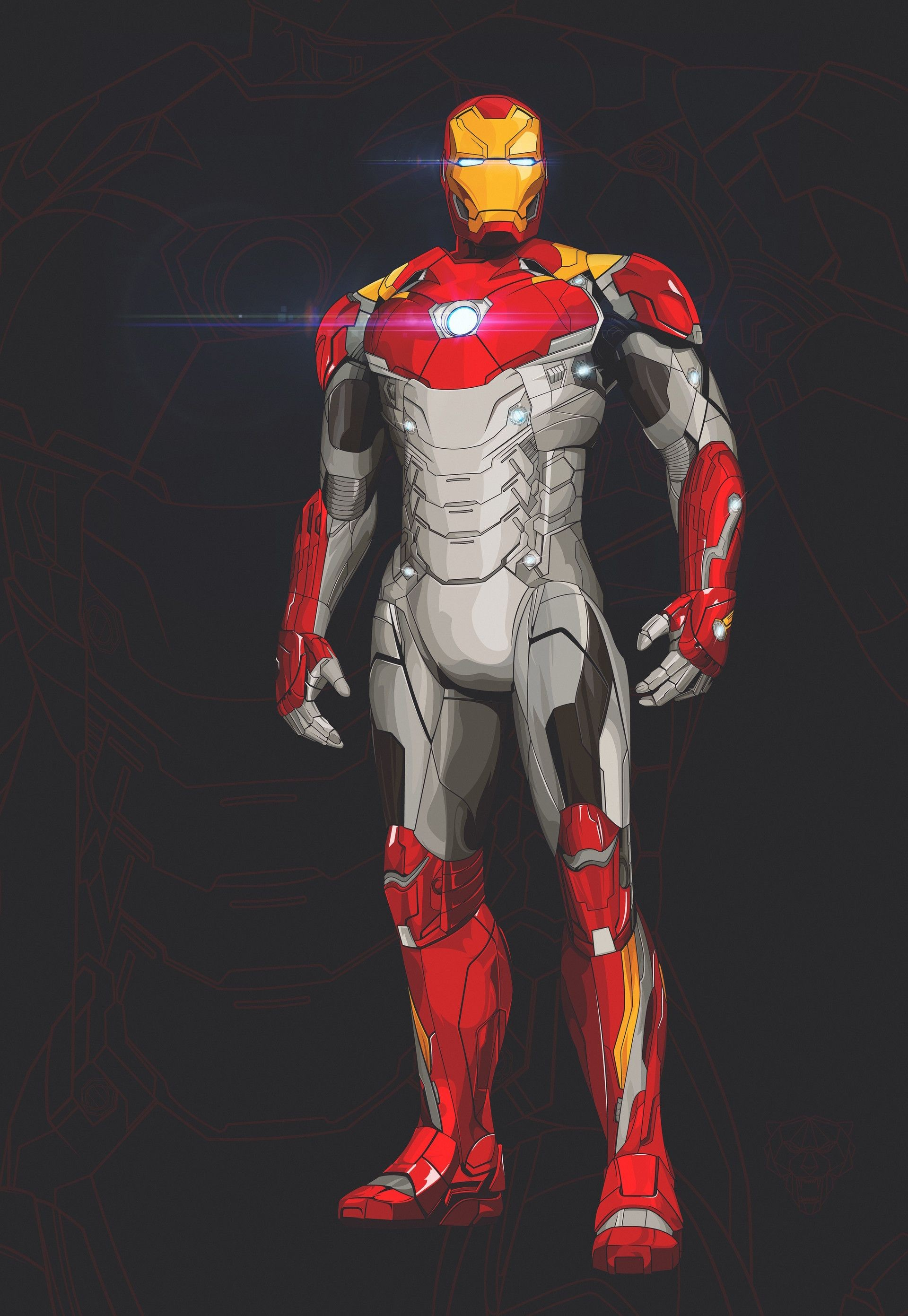 Ironman Papercraft Iron Man Mark 47 Marvel & Dc Ics Pinterest