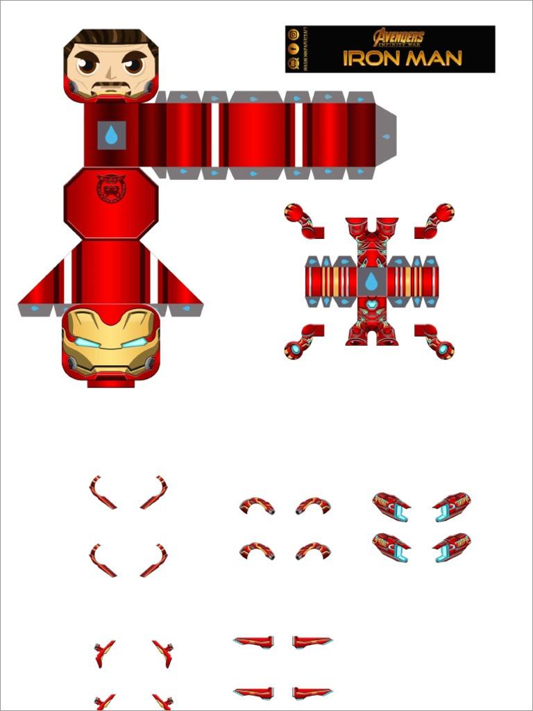 Ironman Papercraft Iron Man Mark 48 Papercraft