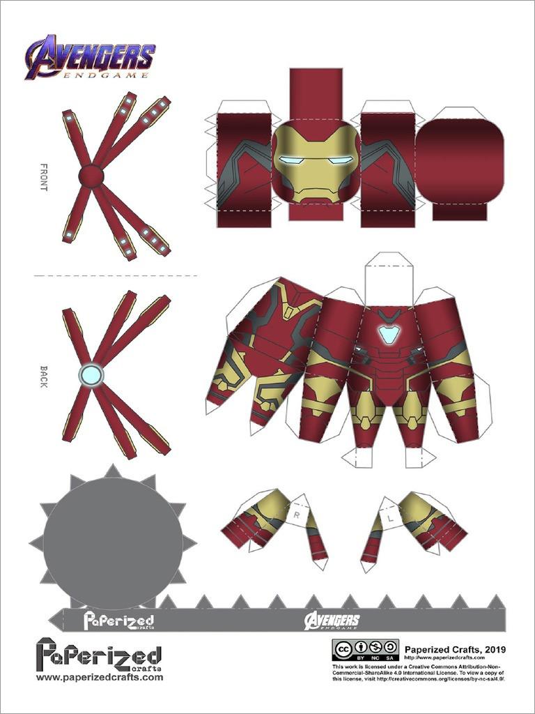 Ironman Papercraft Iron Man Mark 85 Papercraft