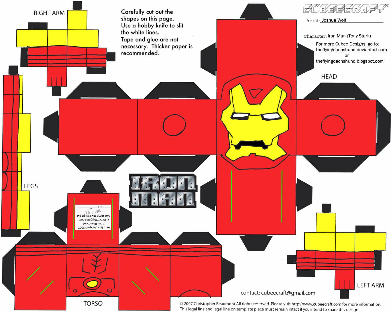 Ironman Papercraft Iron Man Papercraft Download
