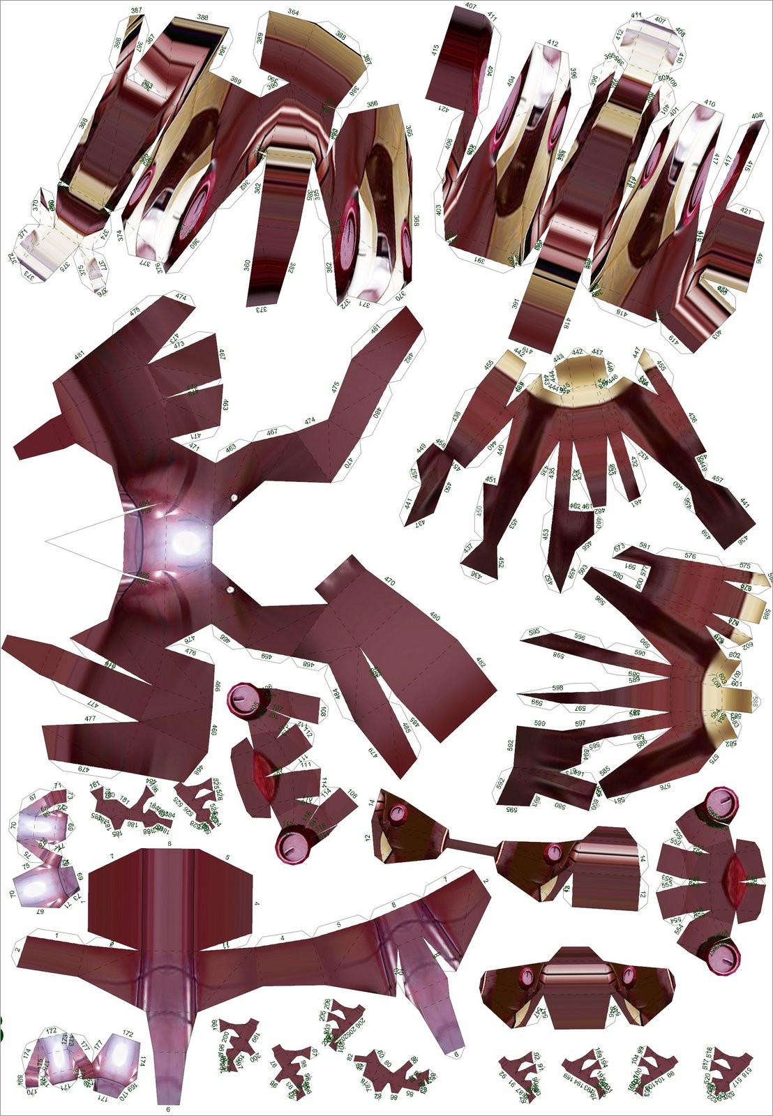 Ironman Papercraft Iron Man Papercraft Full