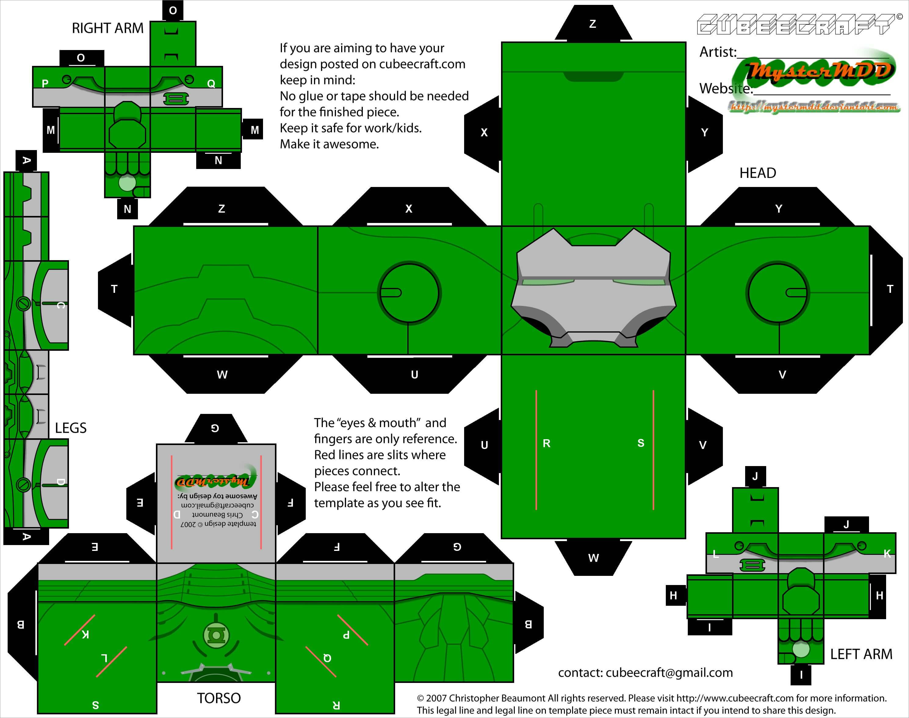Ironman Papercraft Iron Man Papercraft Hulk