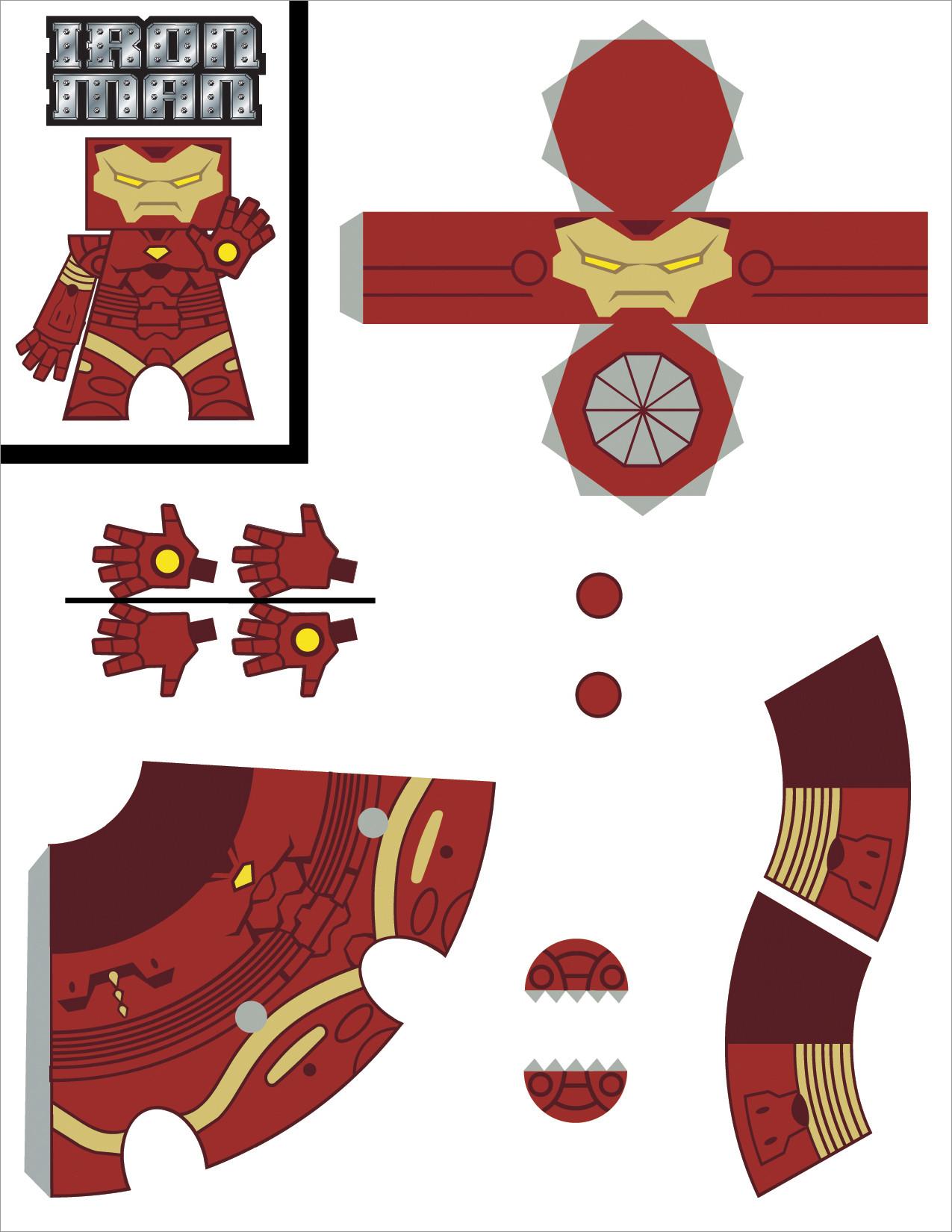 Ironman Papercraft Iron Man Papercraft Template