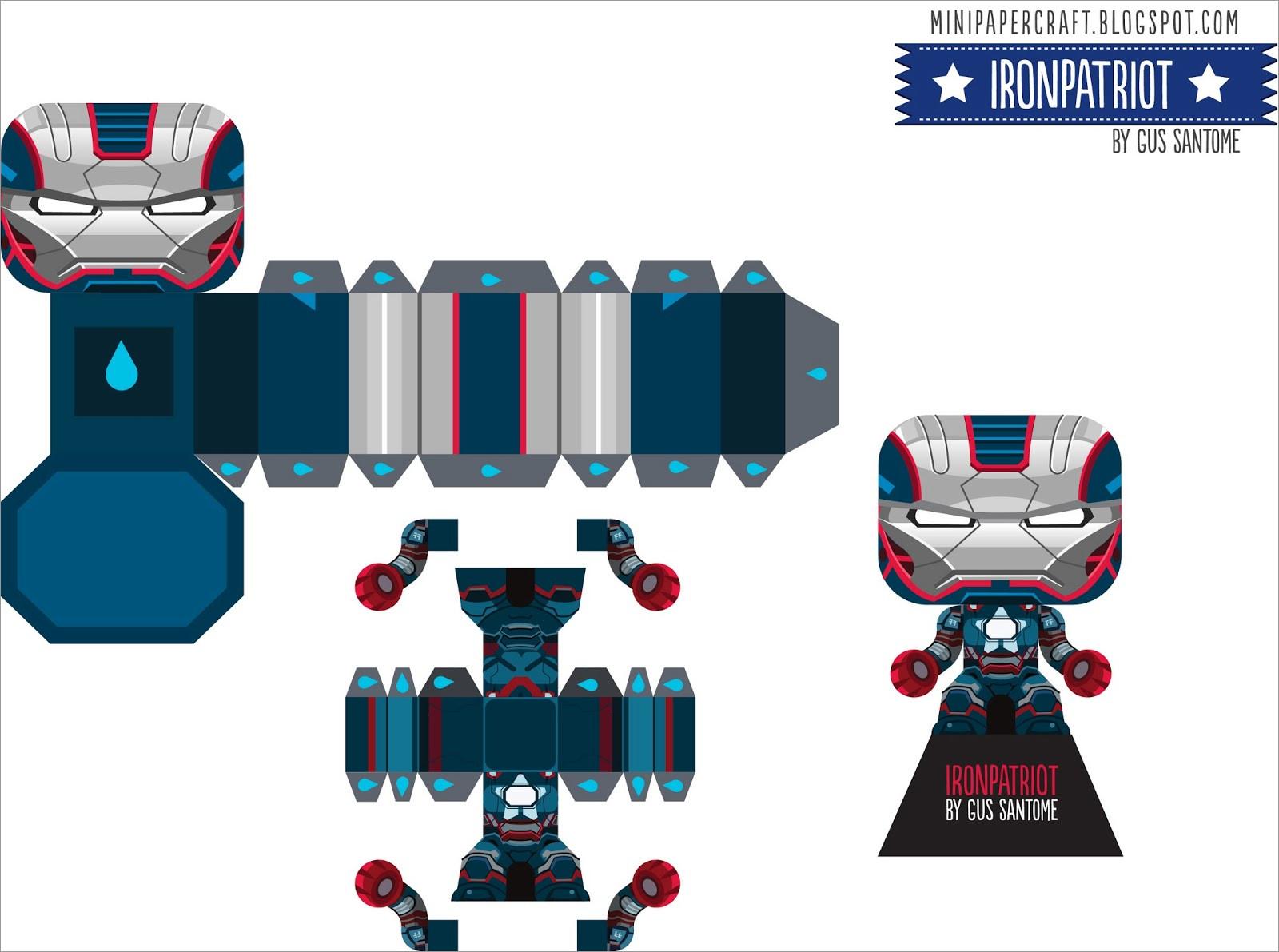 Ironman Papercraft Mini Papercraft Iron Man Ironpatriot