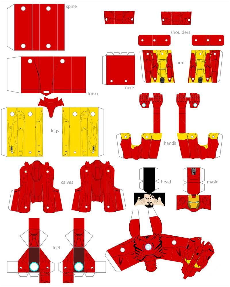 Ironman Papercraft Papercraft Iron Man Download