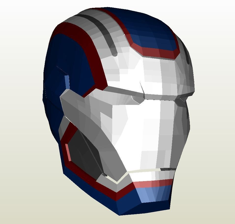 Ironman Papercraft Papercraft Pdo File Template for Iron Man Iron Patriot Full Armor