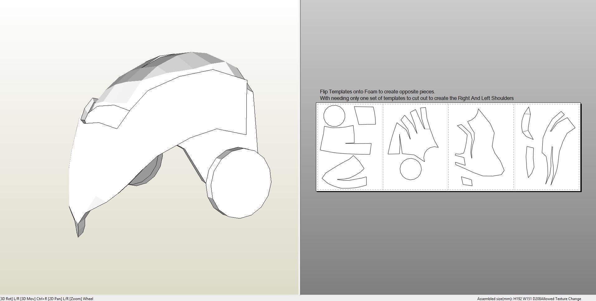 Ironman Papercraft Papercraft Pdo File Template for Iron Man Mark 4 & 6 Full Armor
