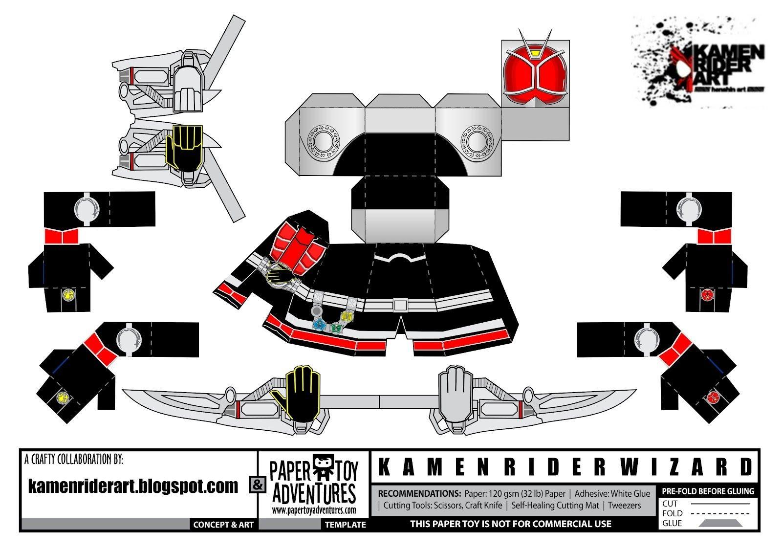 Kamen Rider Papercraft Kamen Rider Blade Costume Template Pattern Pepakura 3d