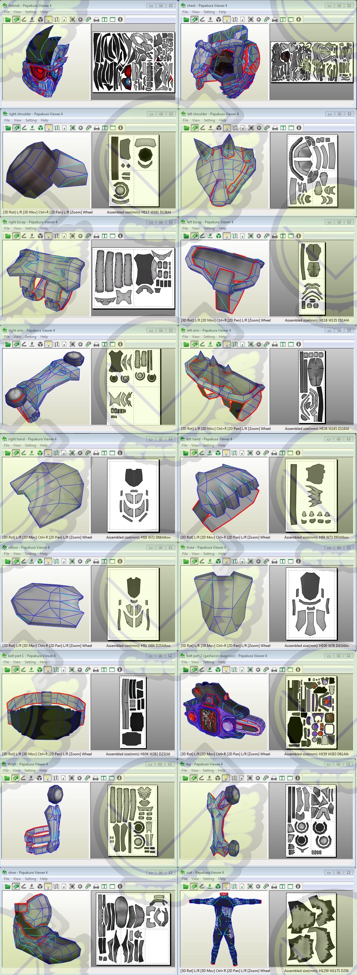 Kamen Rider Papercraft Kamen Rider Genm Lvl 10 Dangerous Zombie Costume Template Pattern
