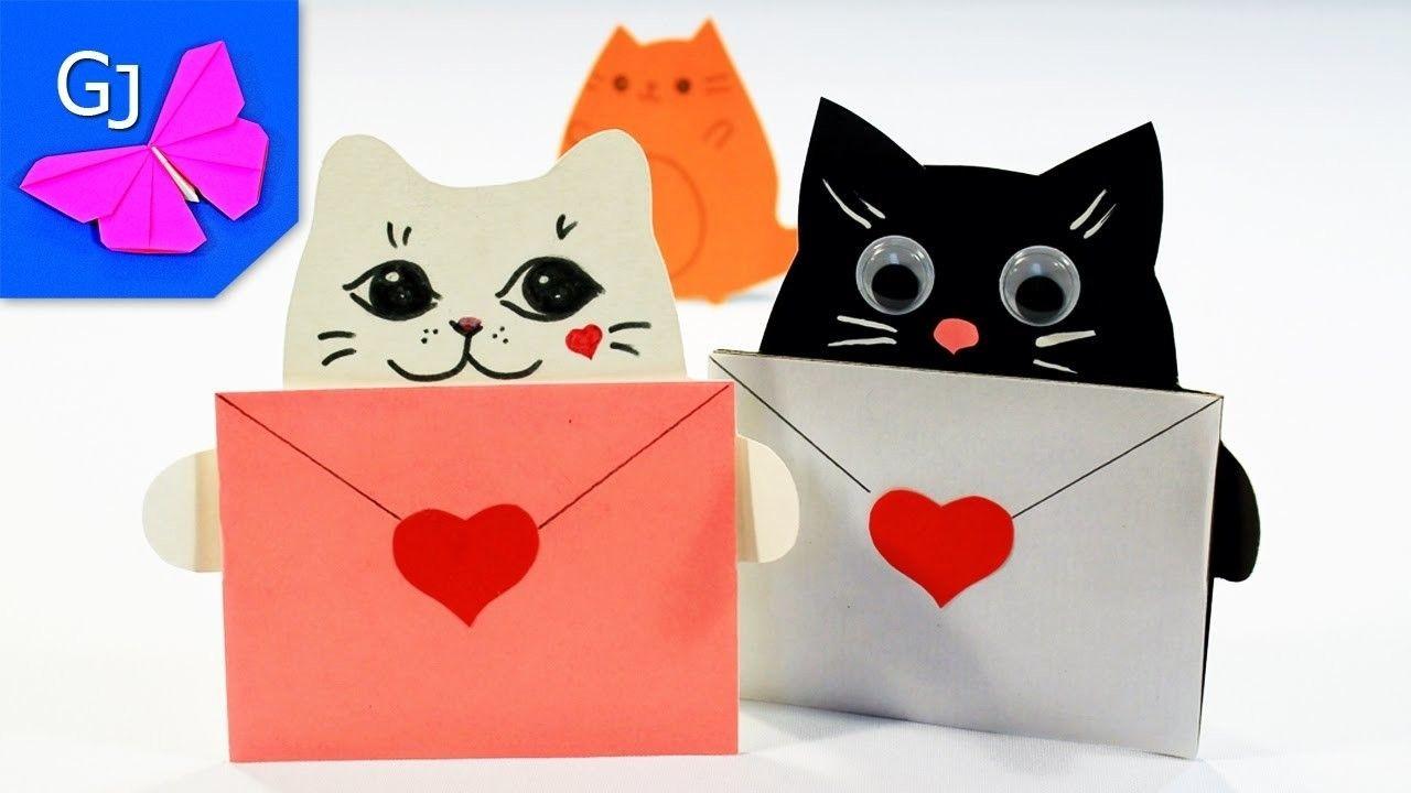 Kawaii Papercraft Diy Открытки Kawaii Котики из бумаги