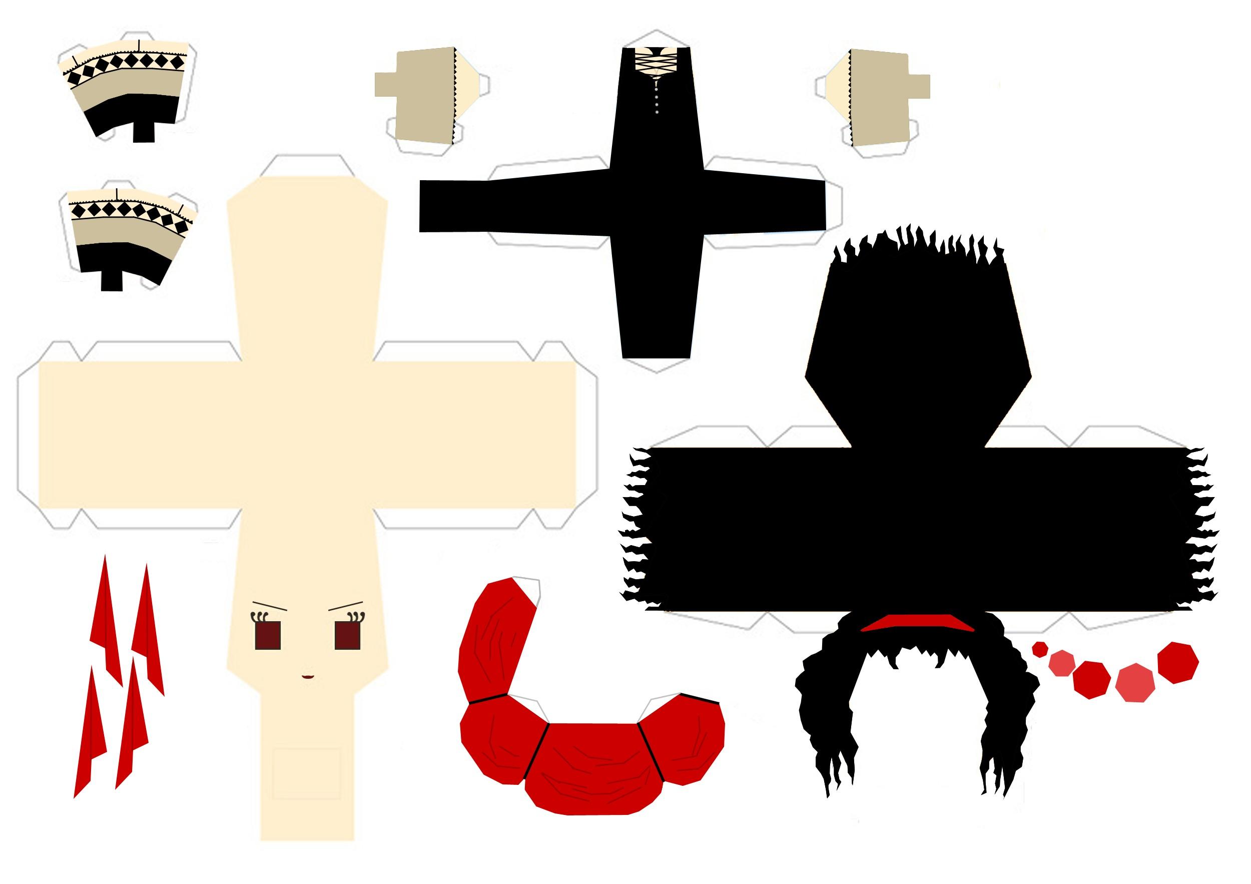 Kuroshitsuji Papercraft Beast Kuroshitsuji Papercrafts Pinterest