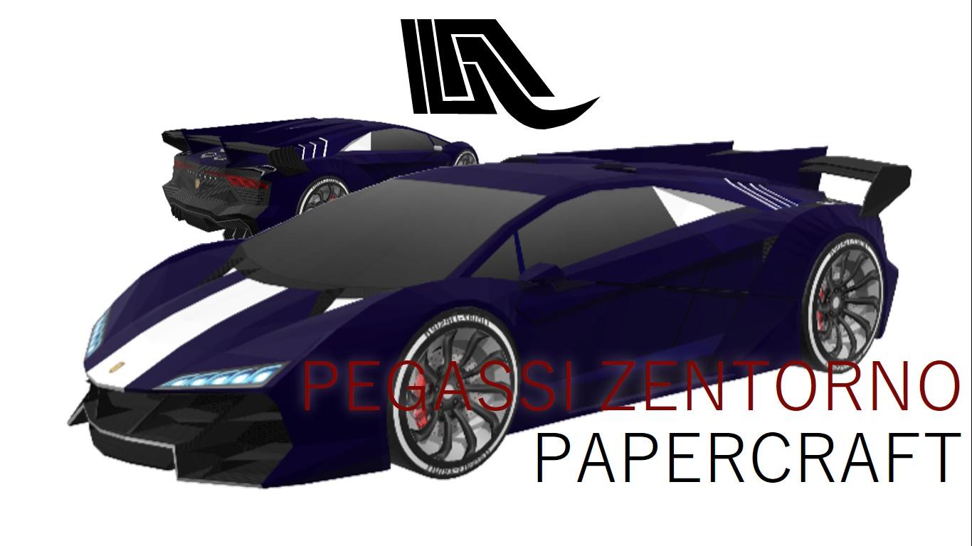 Lamborghini Papercraft Papercraft Pegassi Zentorno Gta V by Ddiaz Design Premium Model