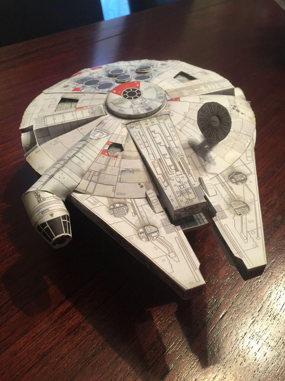 Lego Papercraft Millennium Falcon Star Wars ミレニアムムファムコン