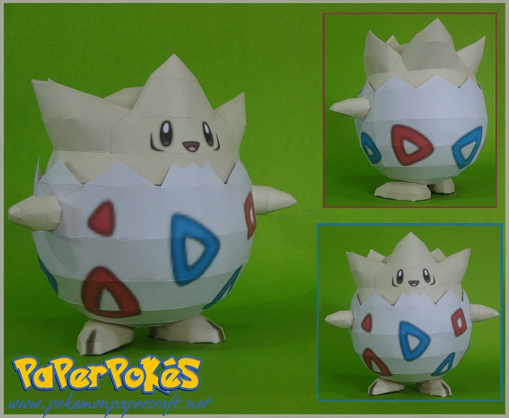 Lugia Papercraft 175 togepi Pokémon Papercraft Name togepi Type Fairy Species