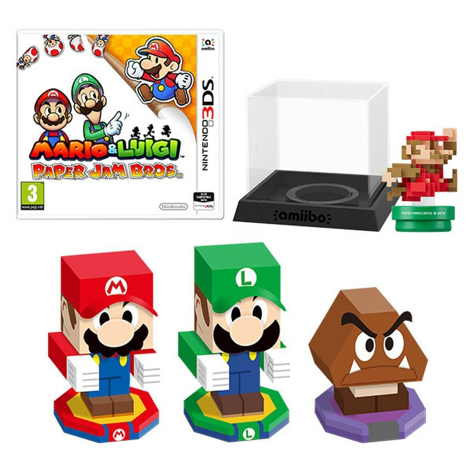 Mario Kart Papercraft Mario & Luigi Paper Jam Bros Mario Classic Colours Amiibo Pack