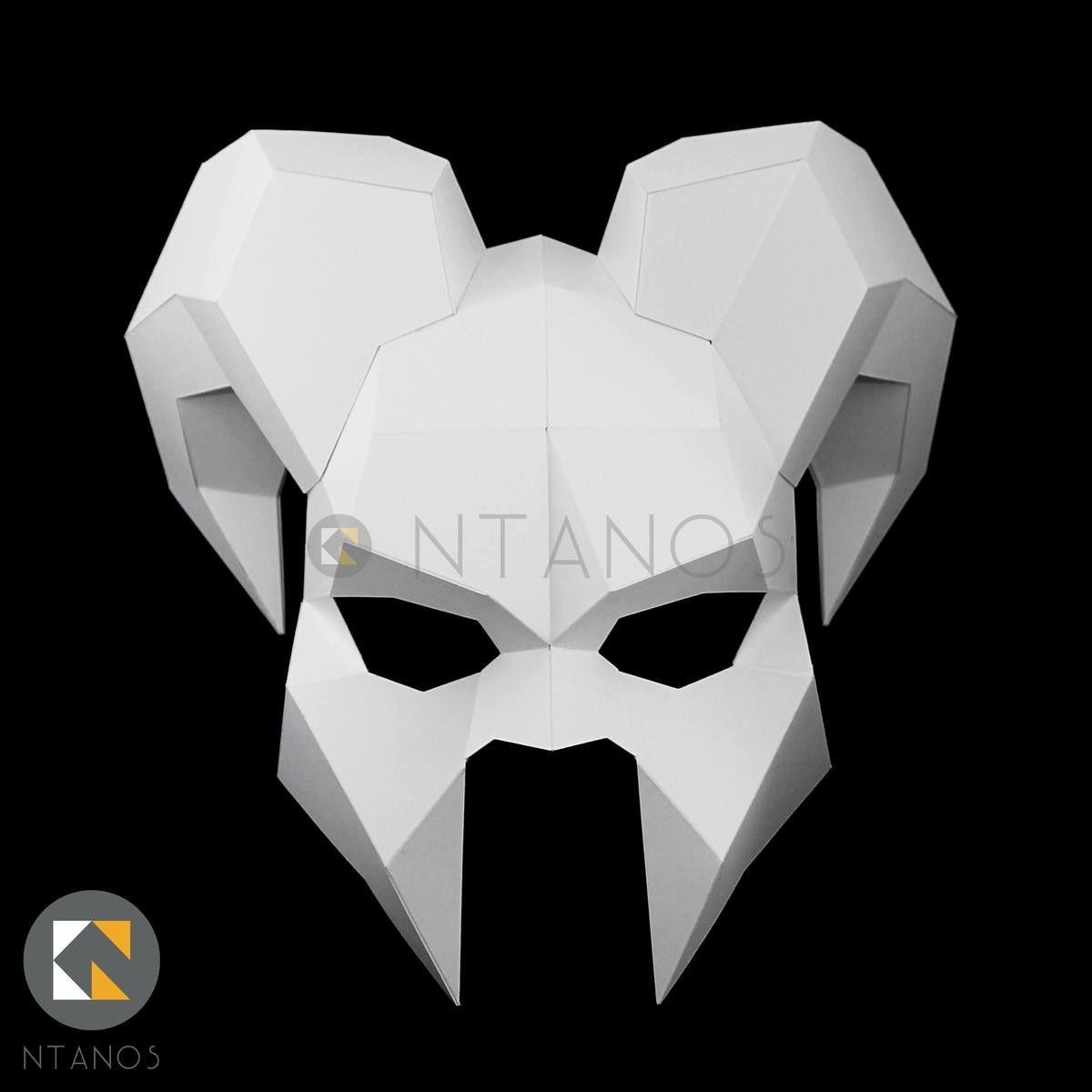 Mask Papercraft Demon Mask